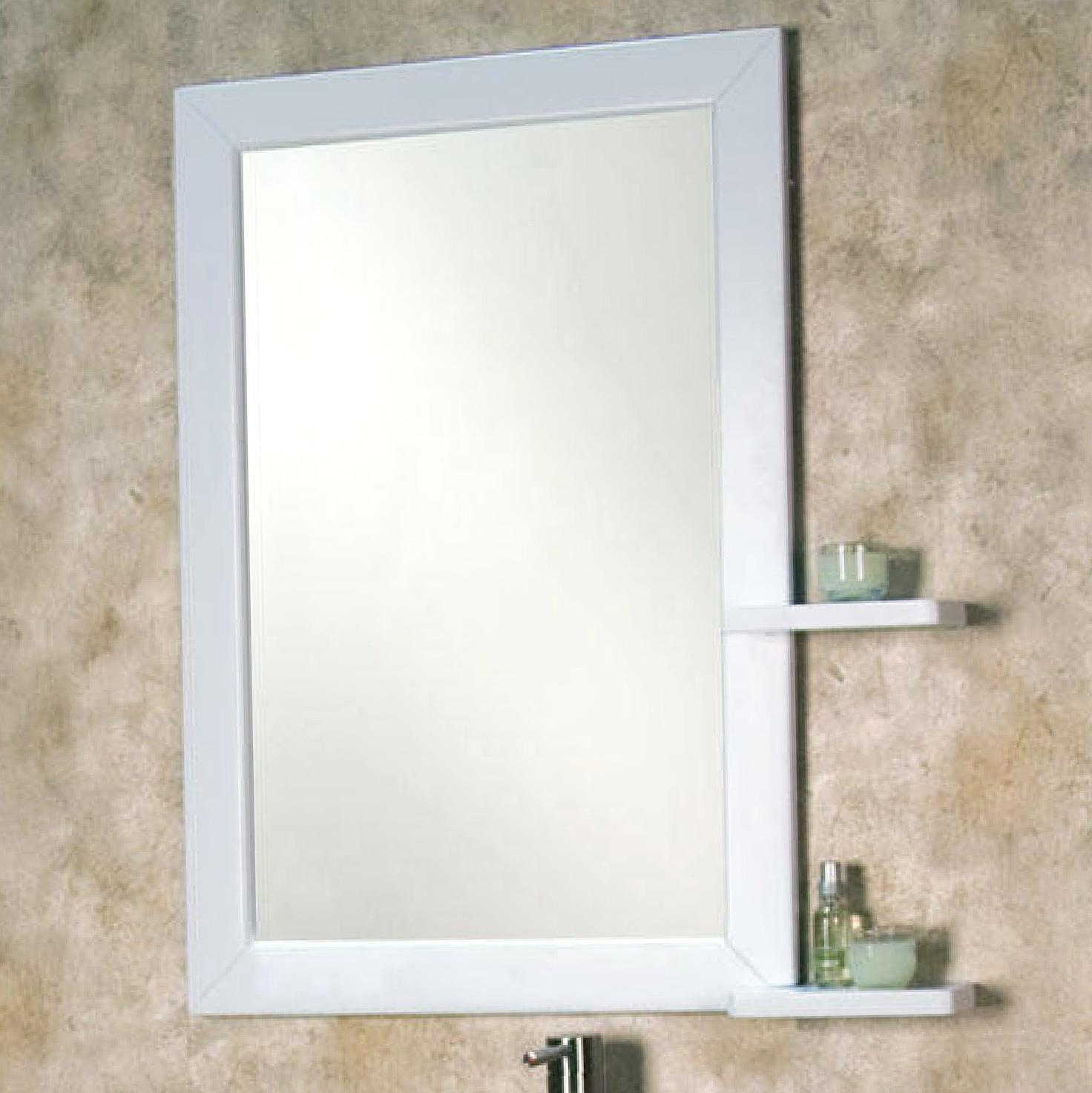Small Bathroom Mirror With Shelf