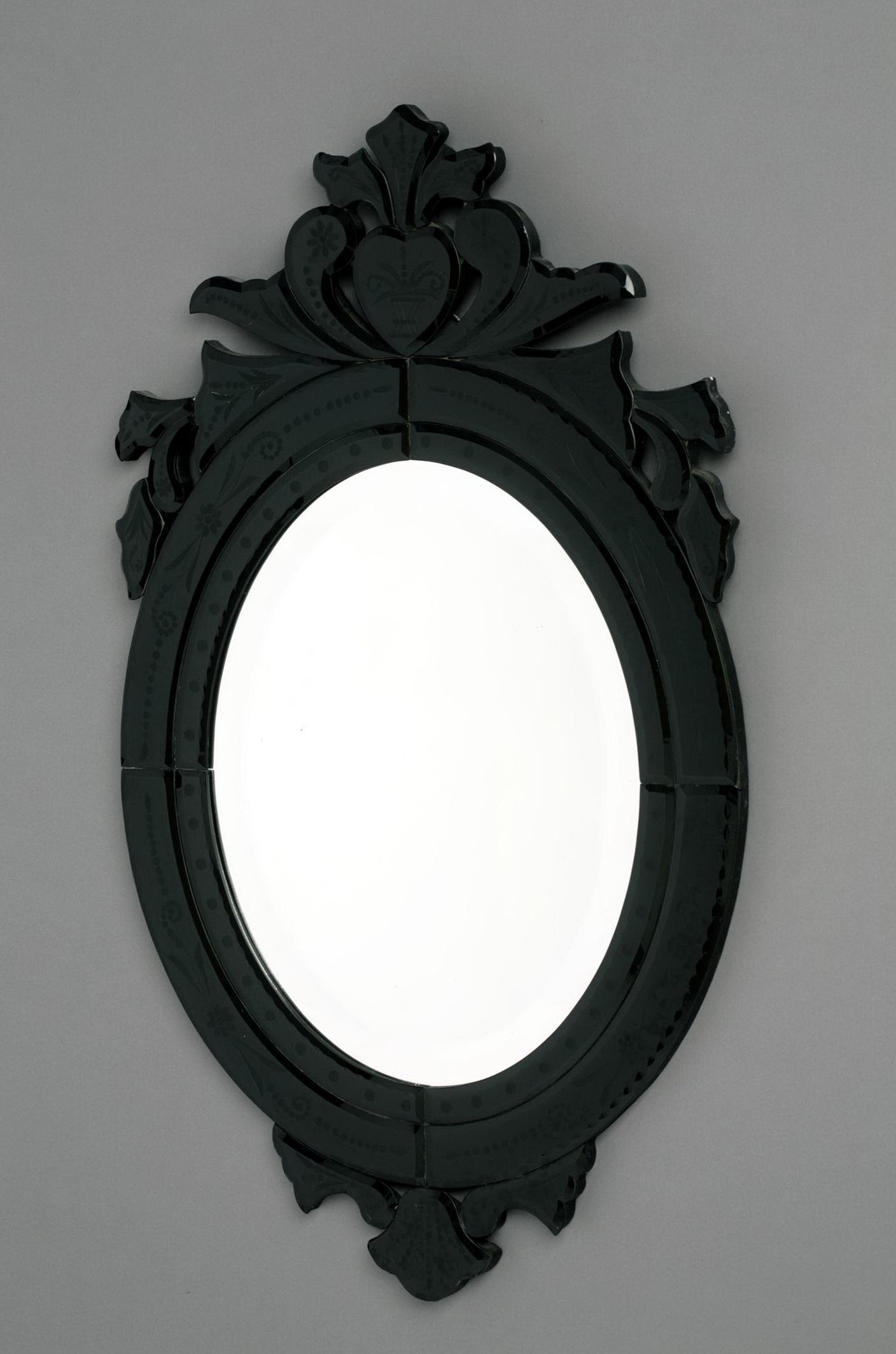 Small Black Framed Mirrors