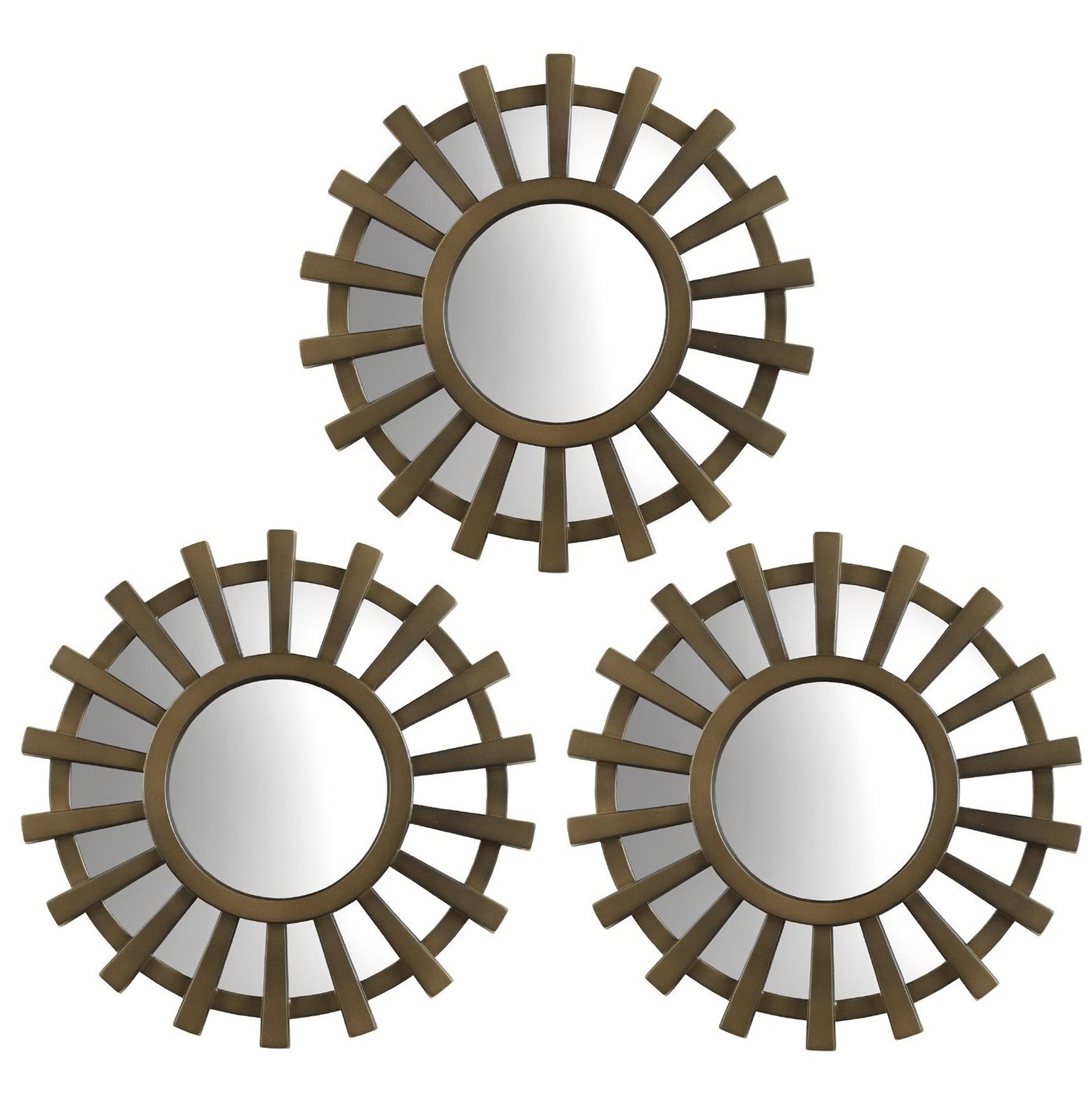Small Decorative Mirrors Set Of 3