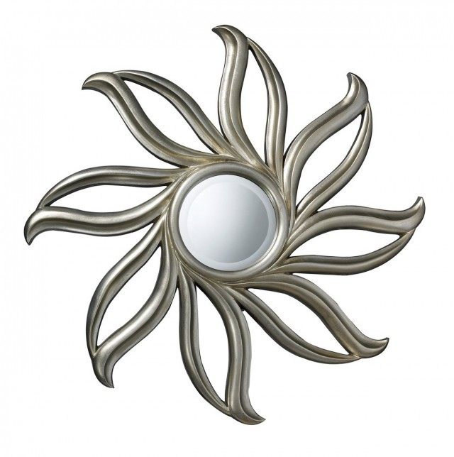 Small Silver Sunburst Mirror