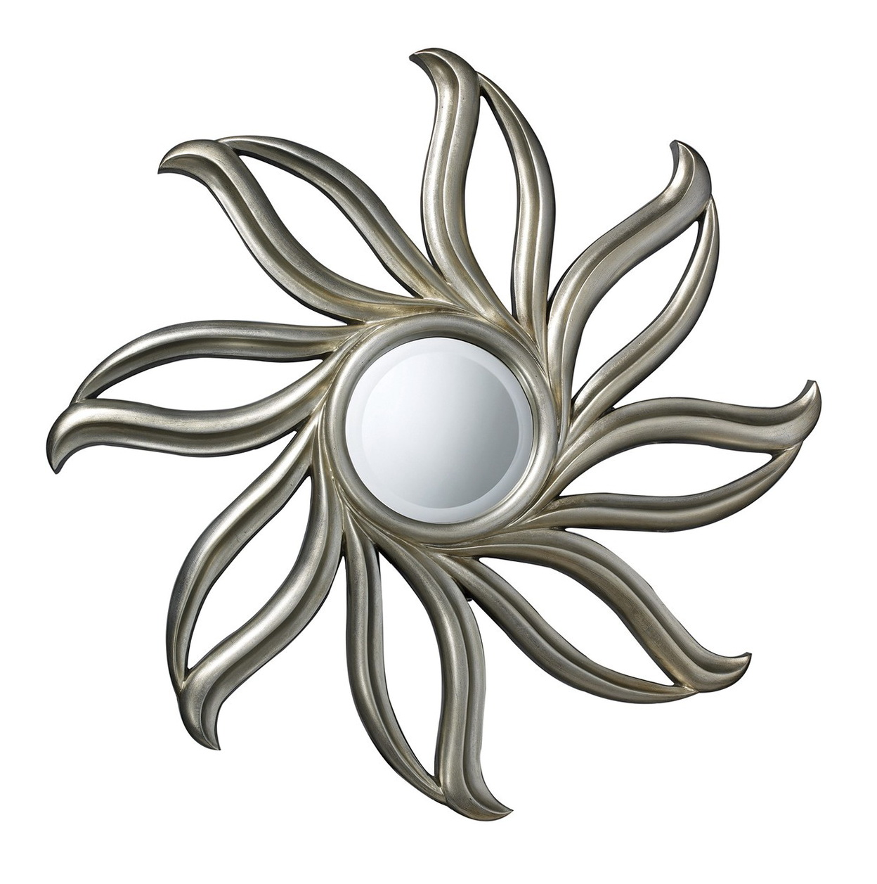 Small silver sunburst mirror home design ideas for Small silver mirror