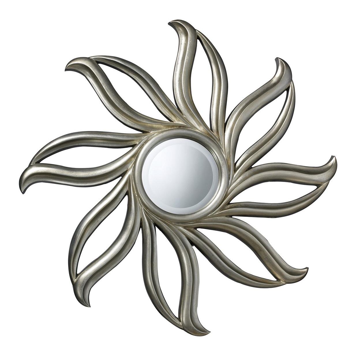 Small silver sunburst mirror home design ideas for Small silver mirror