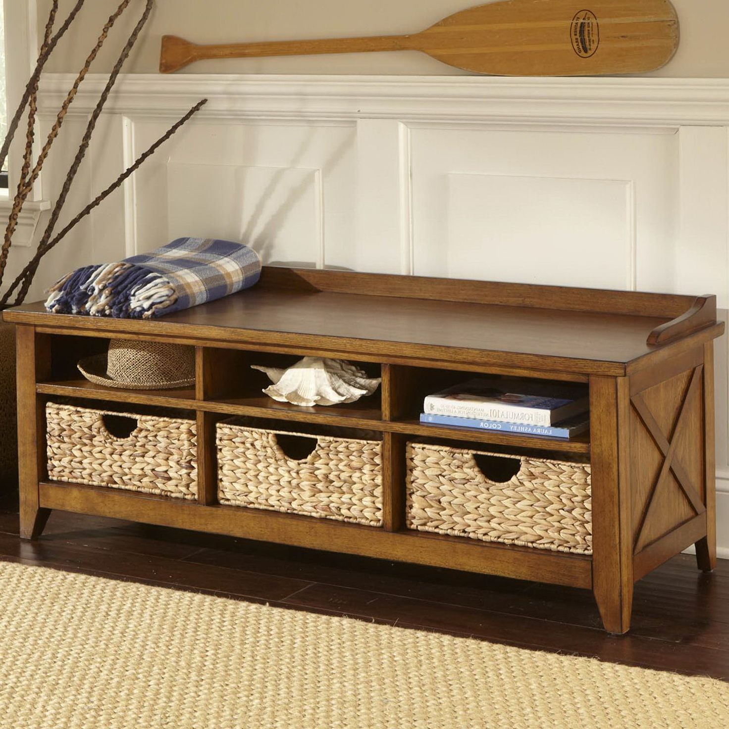 Foyer Bench Zoo : Small storage bench for foyer home design ideas