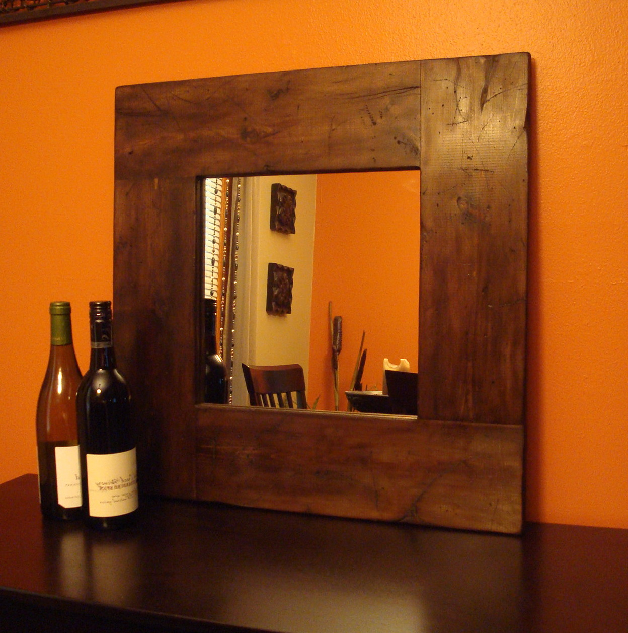 Square Wood Framed Mirrors
