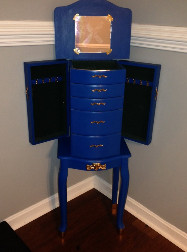 Stand Up Jewelry Boxes With Mirrors