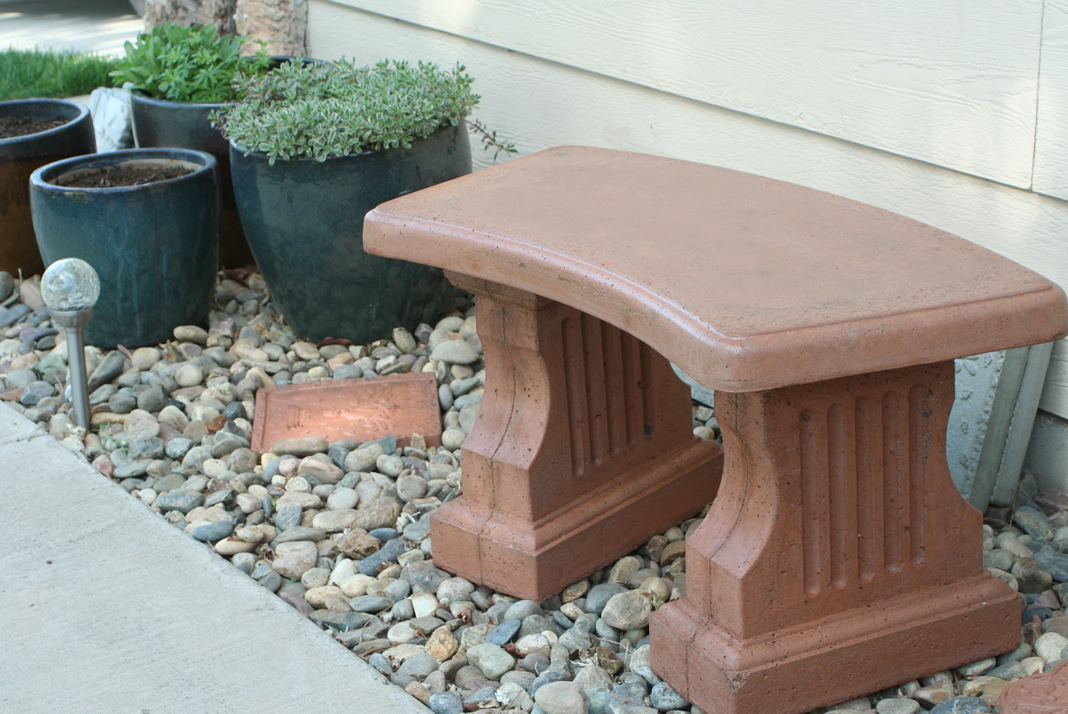 Stone garden benches lowes home design ideas Lowes garden bench