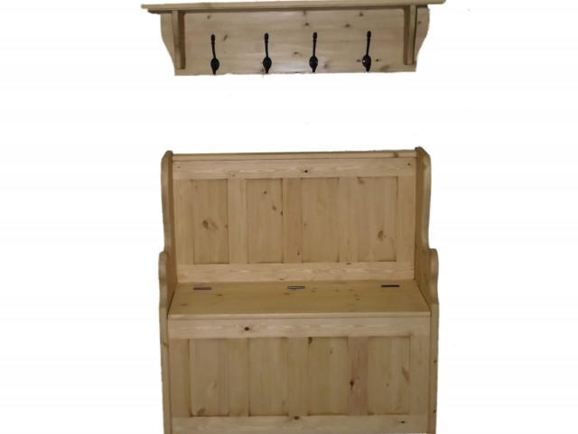 Storage Bench With Coat Rack