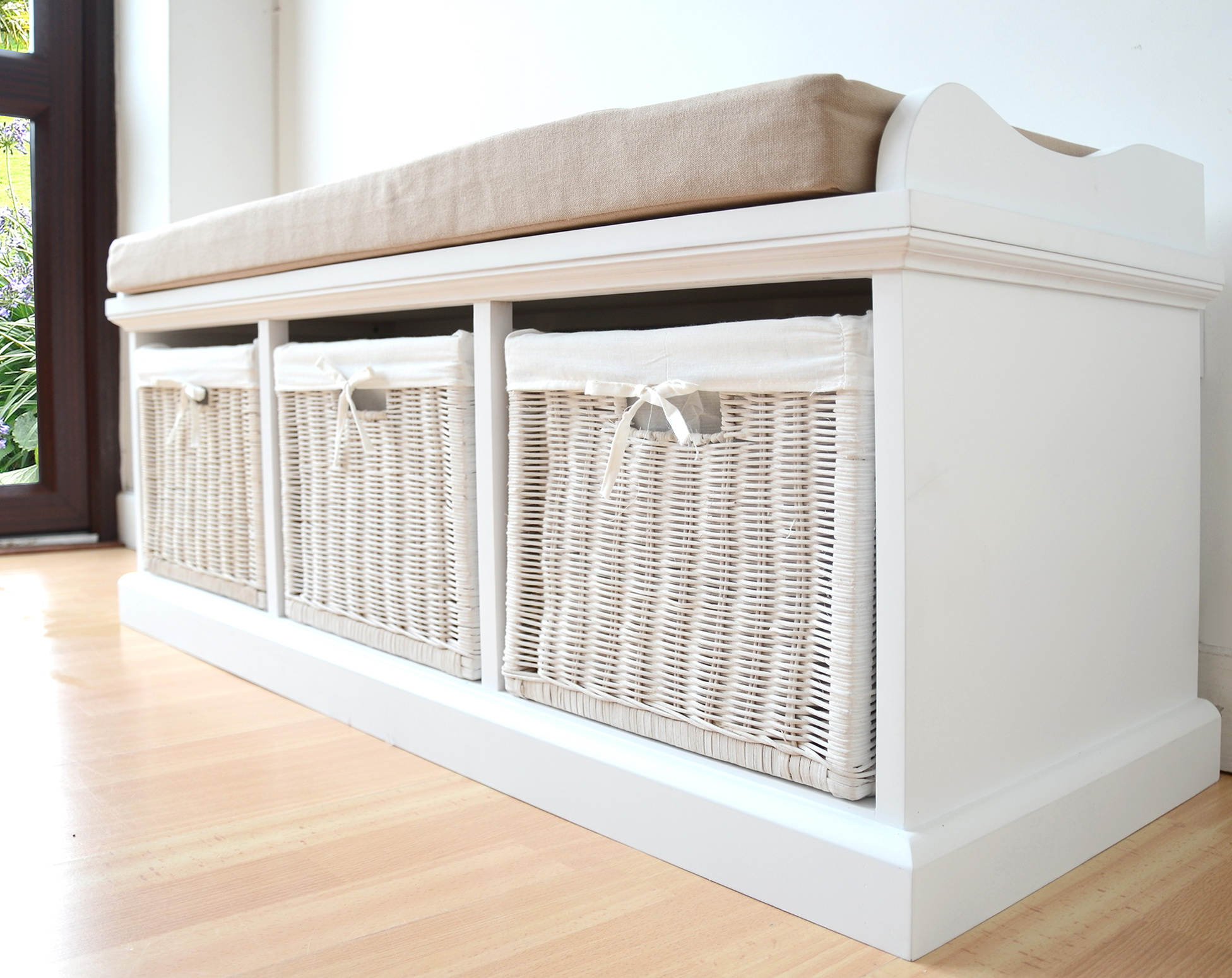 Genial Storage Bench With Cushion Seat