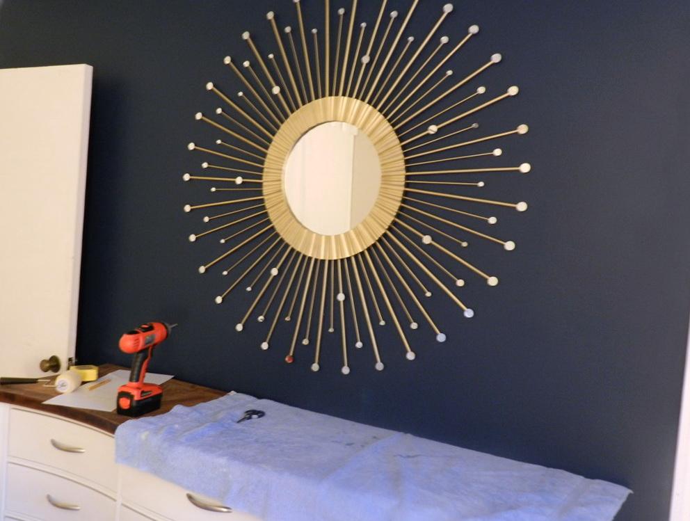 Sunburst Wall Mirror Diy