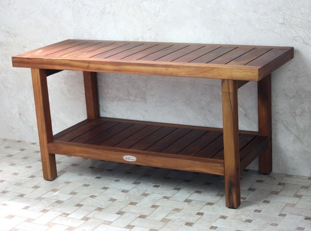 Teak Wood Shower Bench