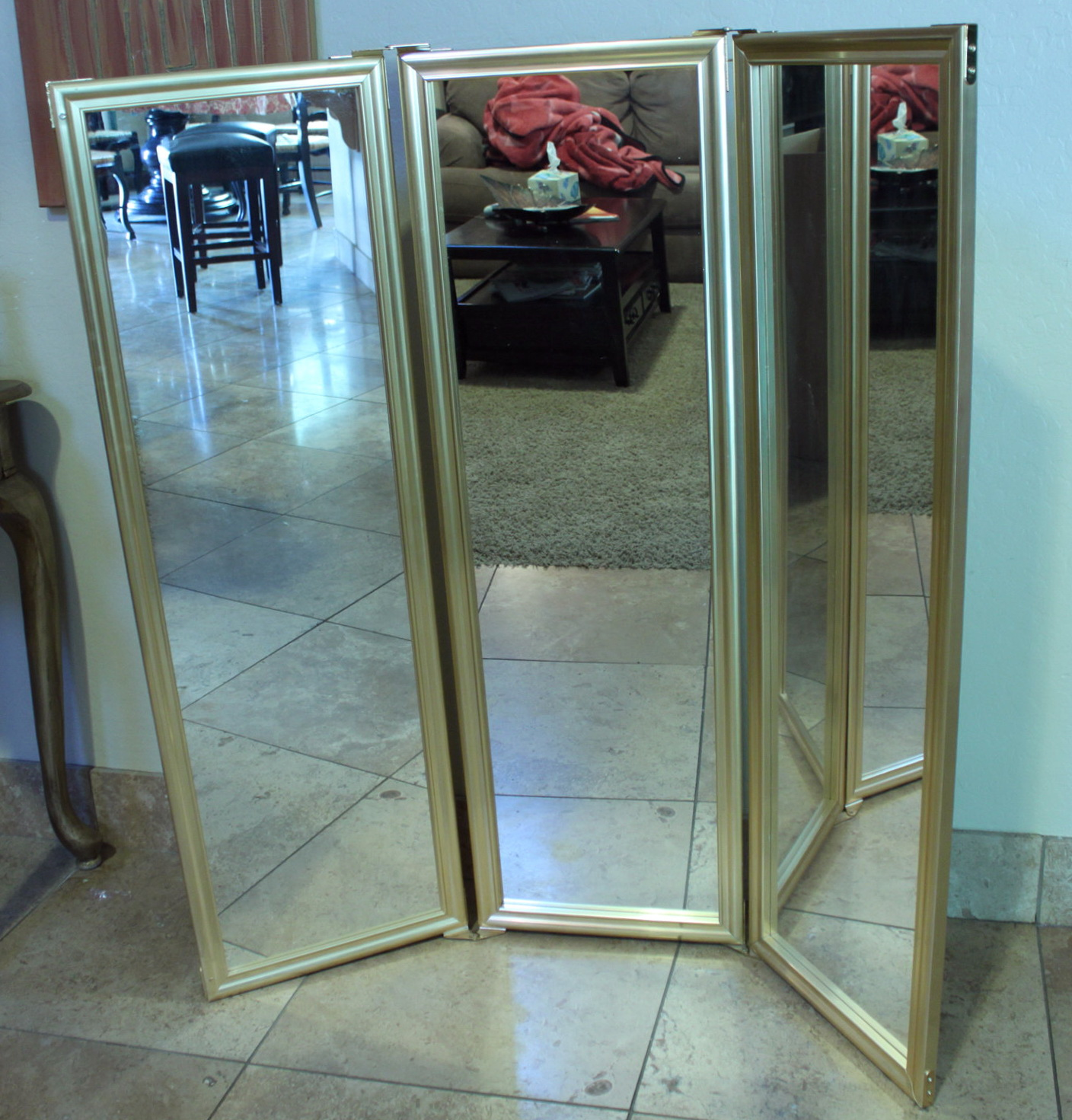 Tri Fold Floor Standing Mirror | Home Design Ideas