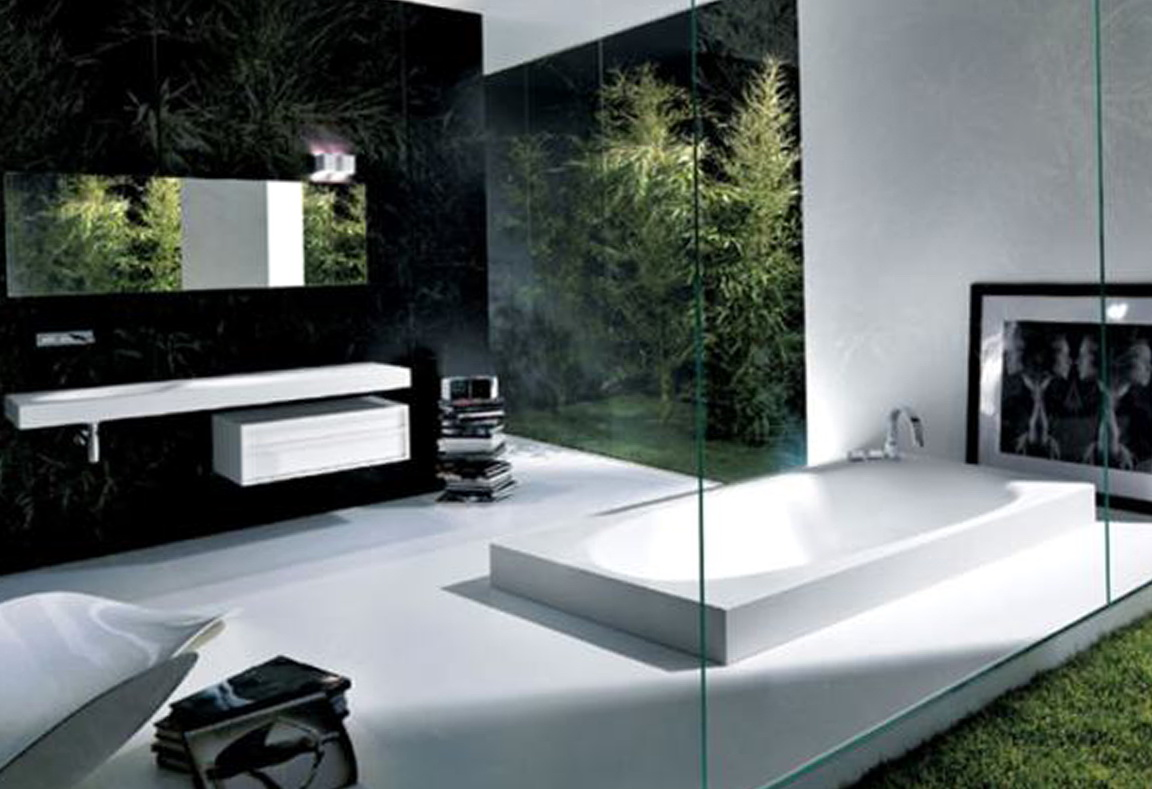 Ultra modern bathroom mirrors home design ideas for Ultra modern bathroom designs