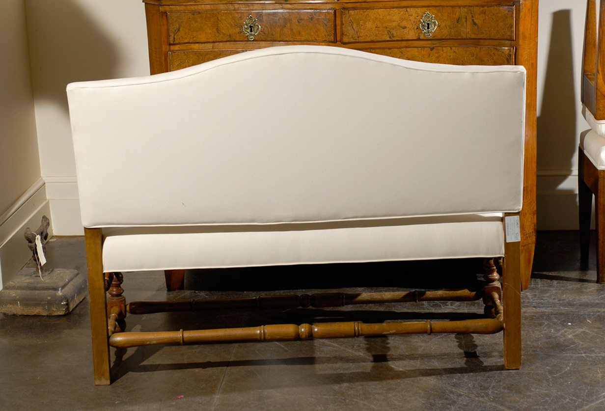 Upholstered Bench With Backrest
