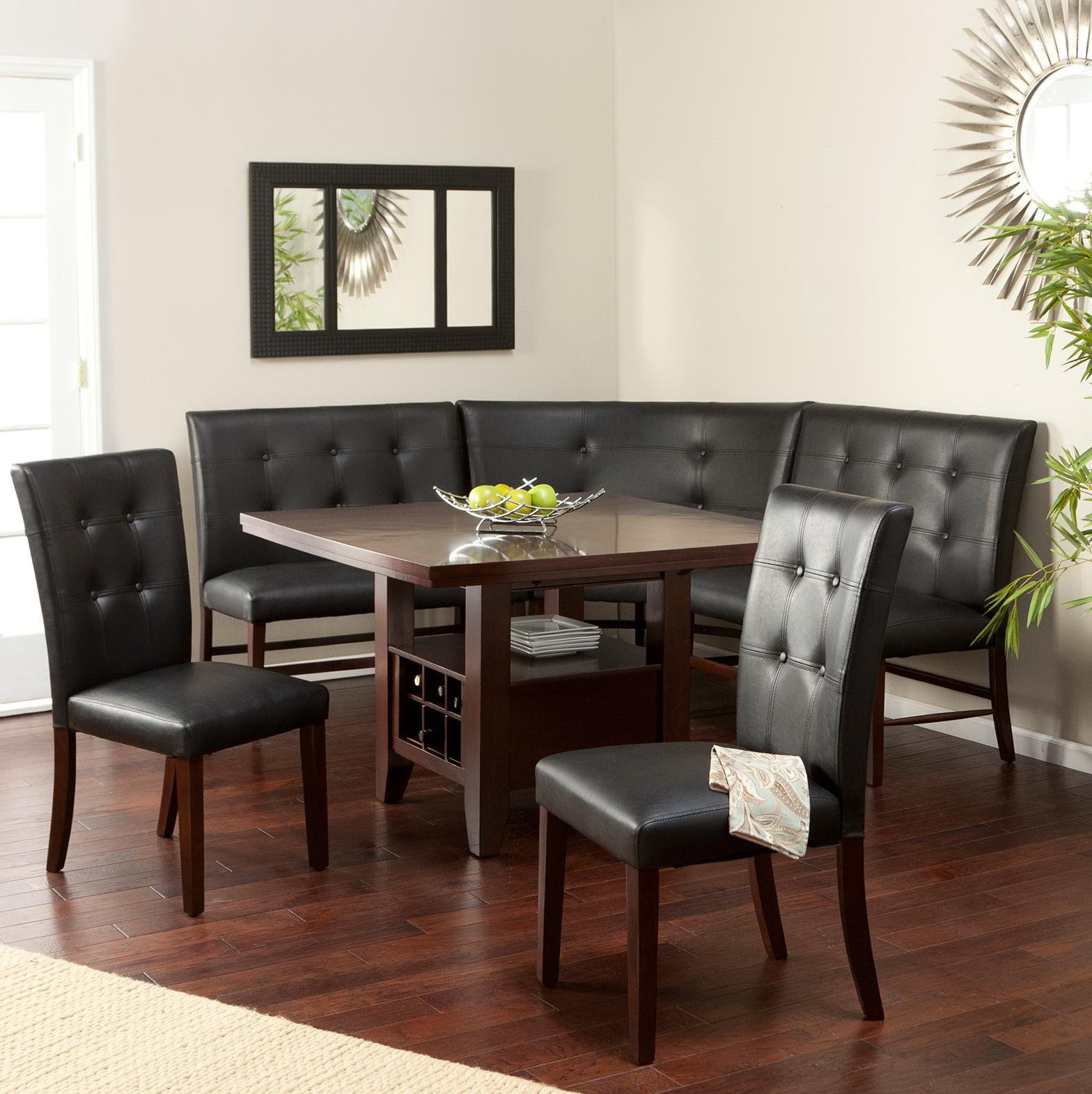 Upholstered Corner Dining Bench Home Design Ideas