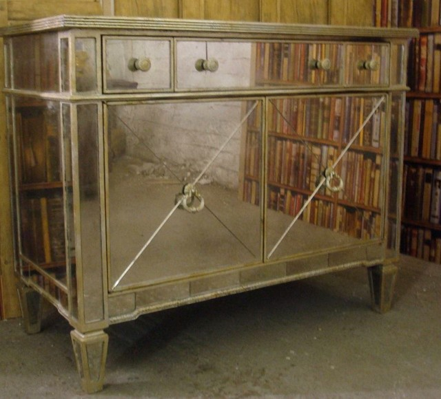 Venetian Glass Mirrored Sideboard
