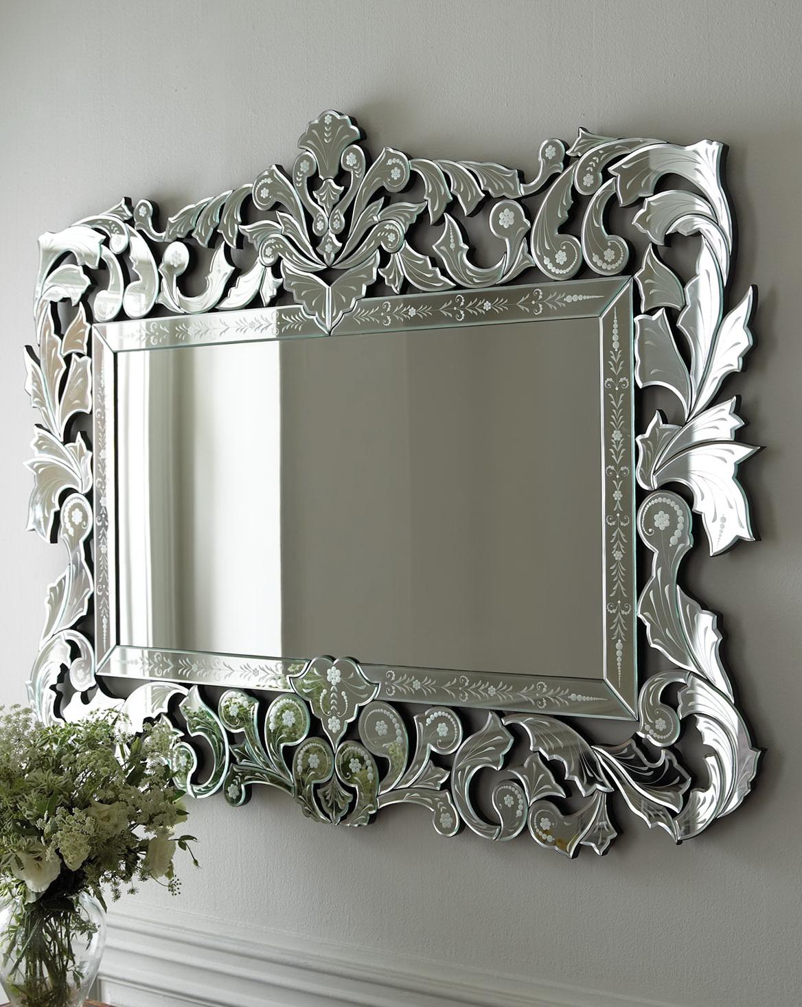 Venetian glass mirrors bathroom home design ideas for Glass mirrors for bathrooms