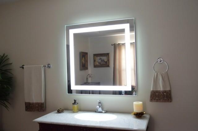 Wall Mount Makeup Mirror Led