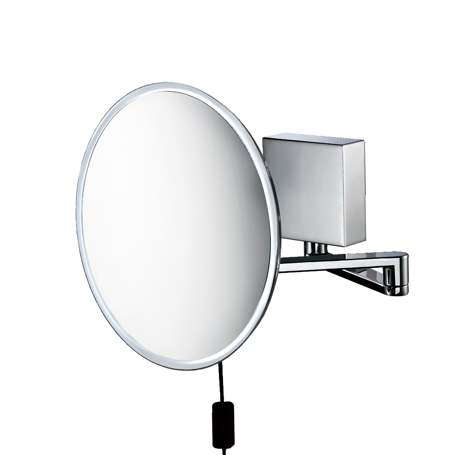 Wall mounted lighted makeup mirror 8x home design ideas for Wall mounted makeup mirror