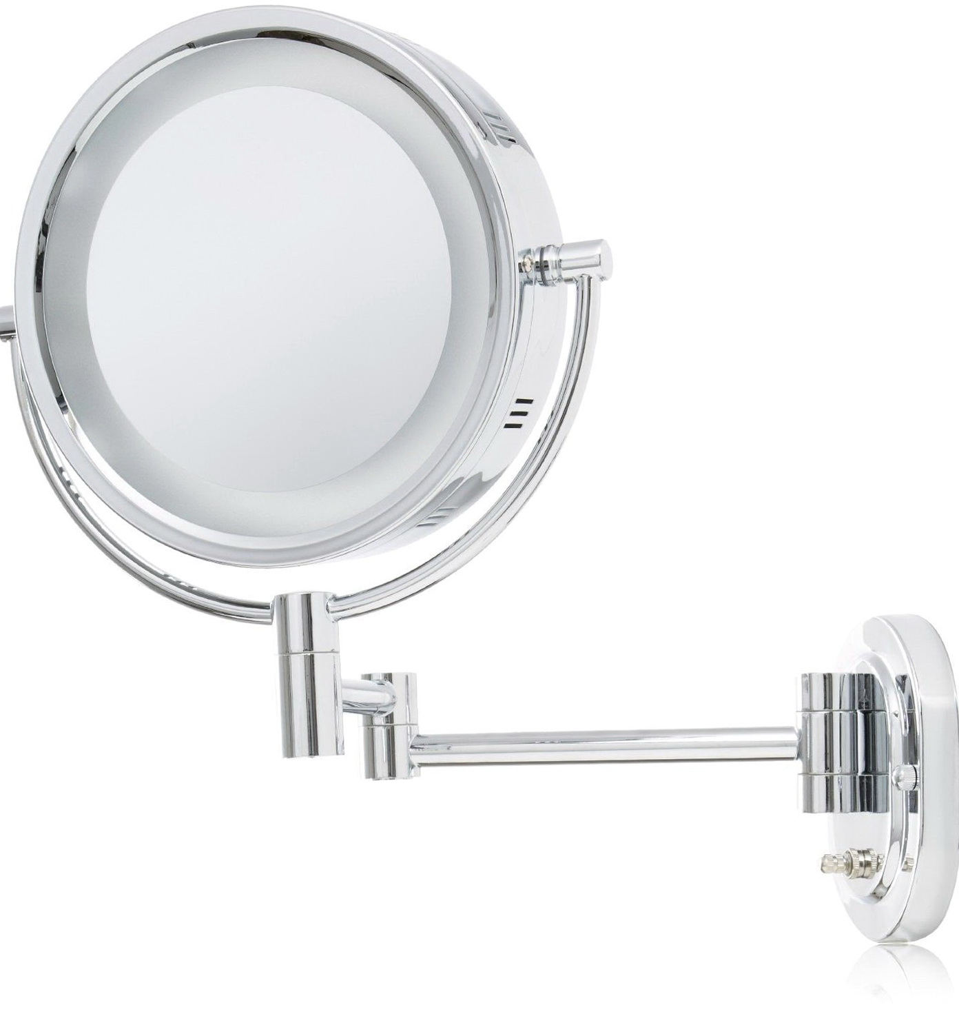 Wall Mounted Lighted Makeup Mirror Battery