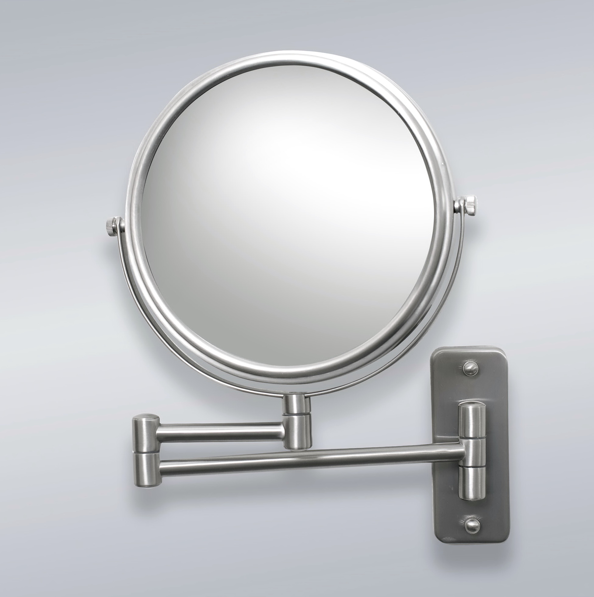 Wall Mounted Magnifying Mirror Brushed Nickel Home