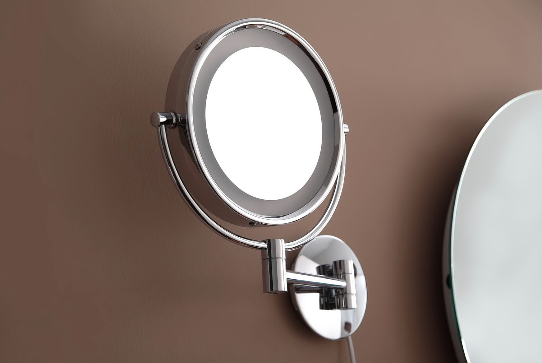 Wall Mount Magnifying Lamp : Wall Mounted Magnifying Mirror With Light Home Design Ideas