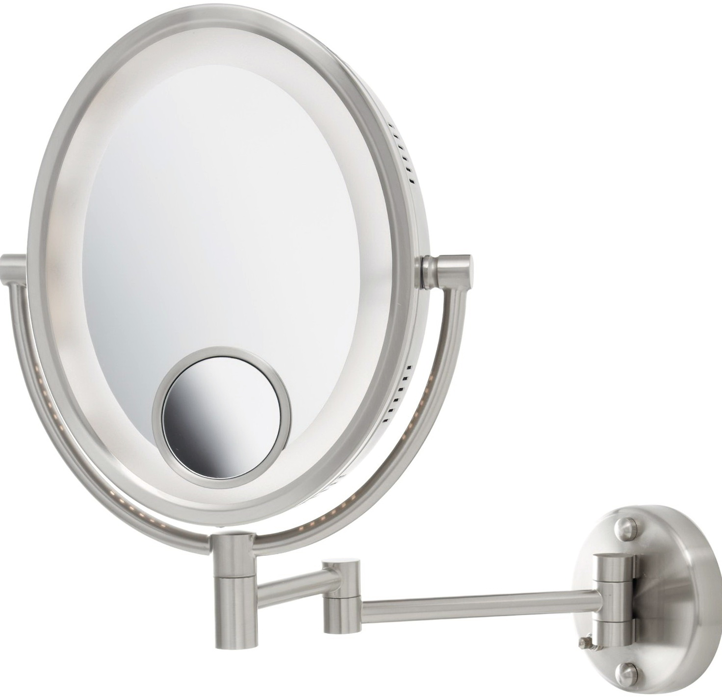 Wall Mounted Magnifying Mirror With Lighted 10x Home