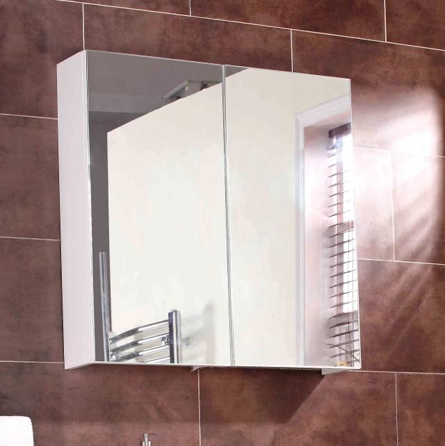 White Bathroom Mirror Cabinet