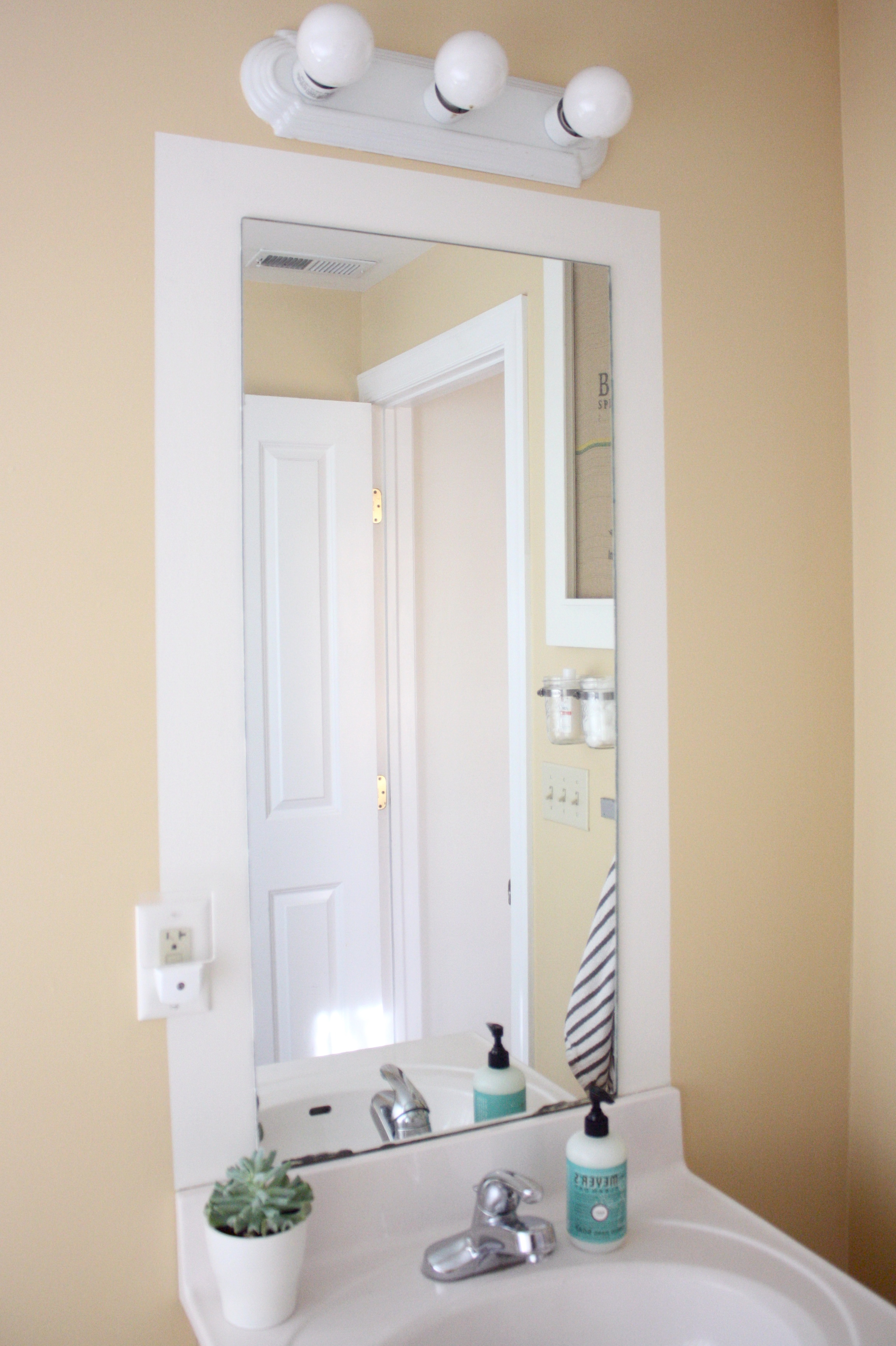 White Bathroom Mirror Frame