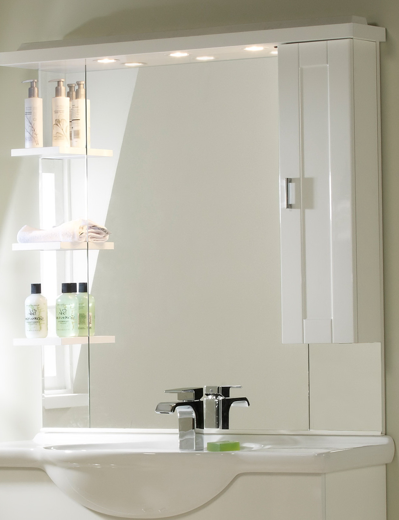 White Bathroom Mirrors Sale