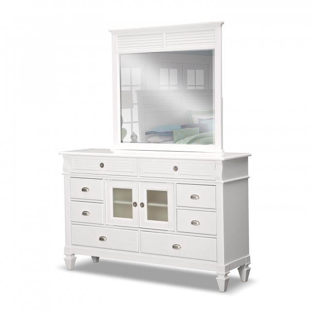 White Dresser And Mirror
