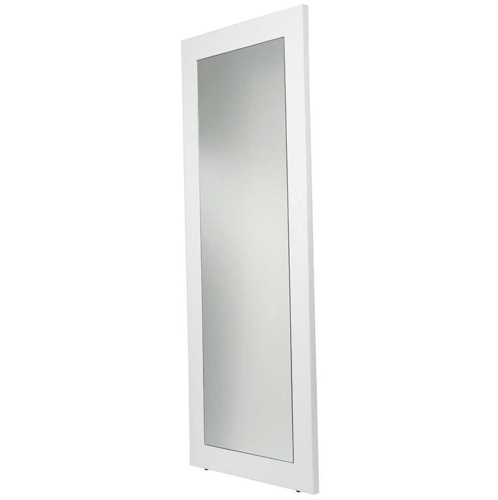 White floor mirror with storage
