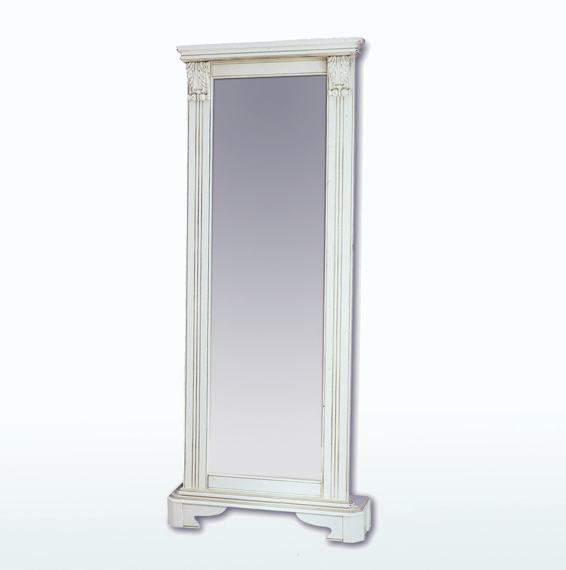 White Floor Standing Mirror