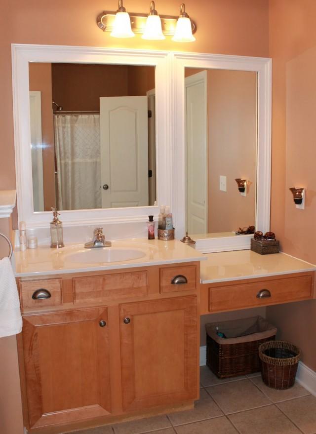 White Frame Bathroom Mirror