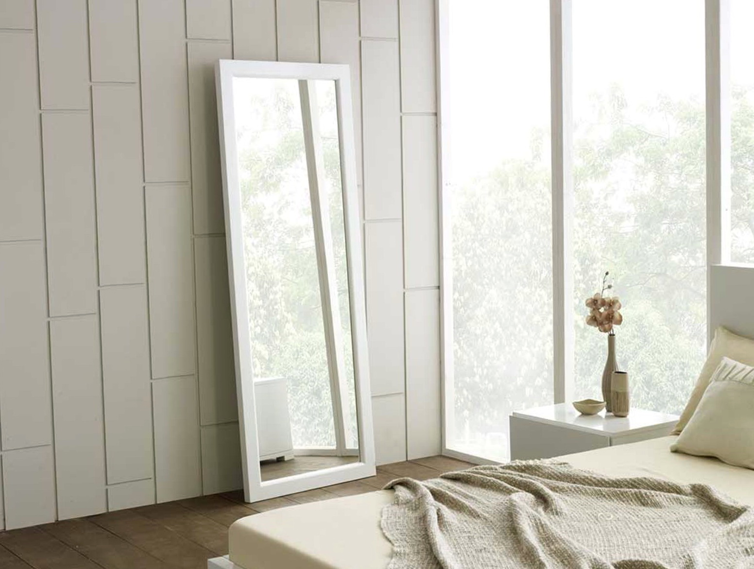 White Framed Full Length Mirror