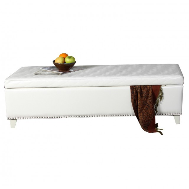 White Kids Storage Bench