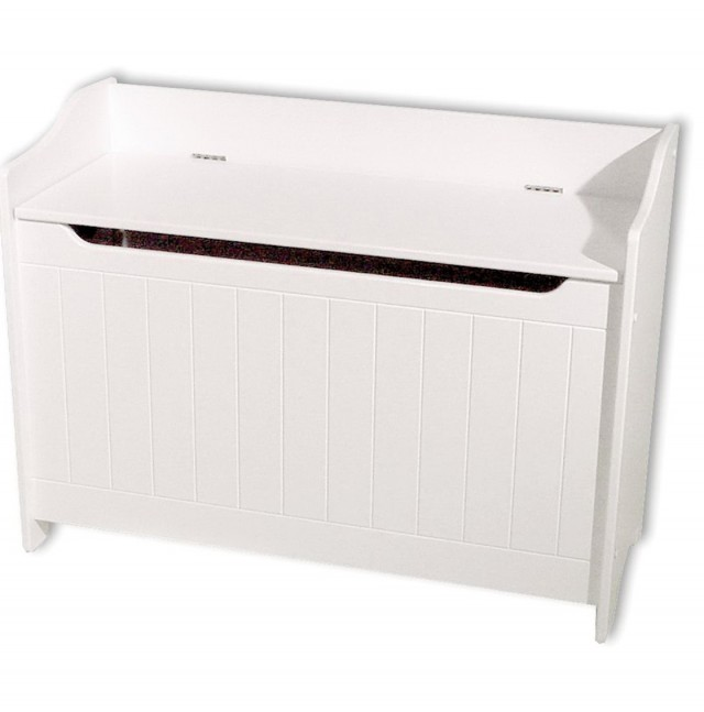 White Toy Chest Bench