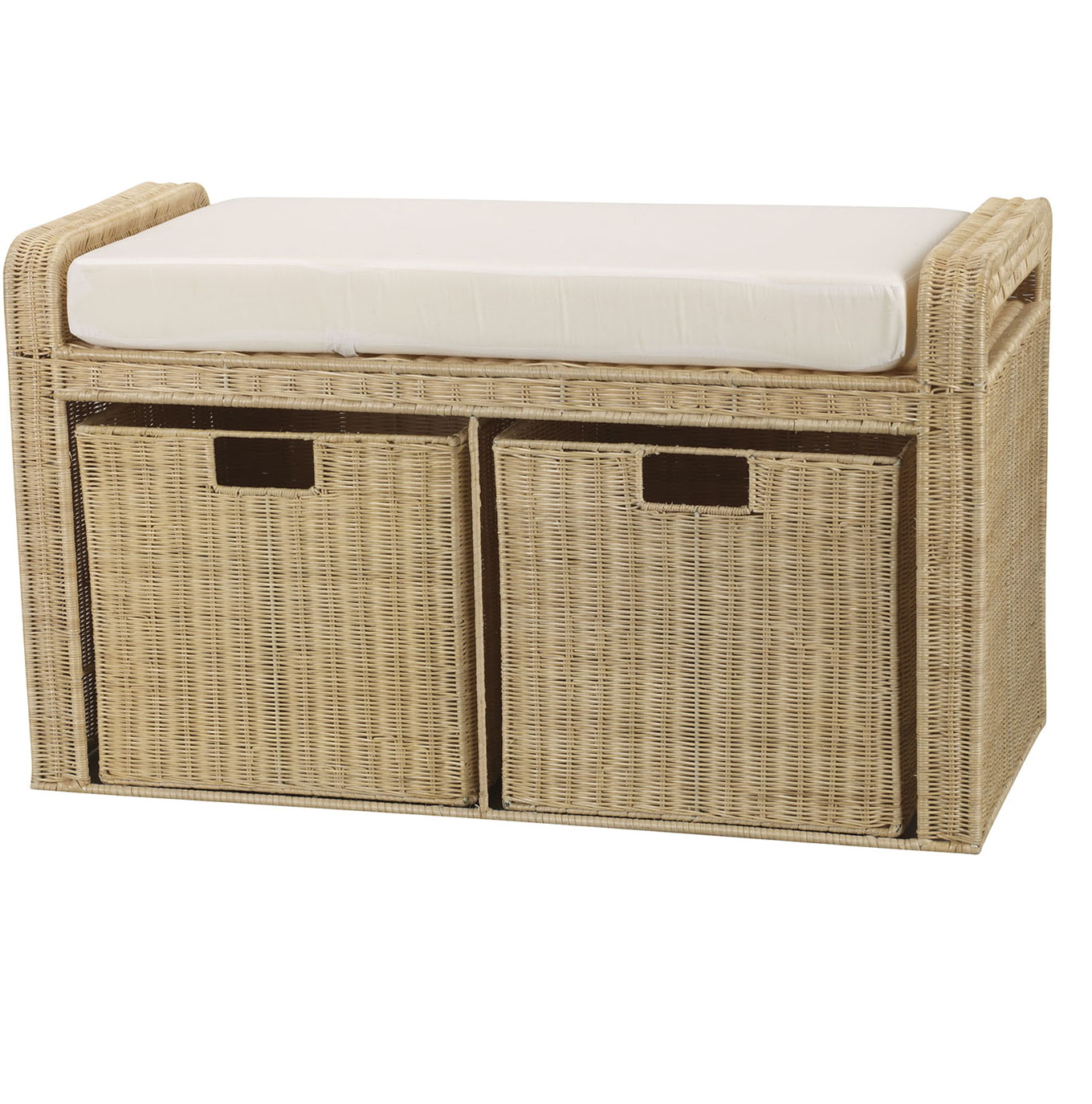 Wicker Storage Bench Seat Home Design Ideas