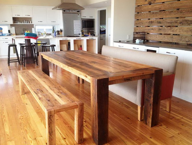 Wooden Bench Dining Table