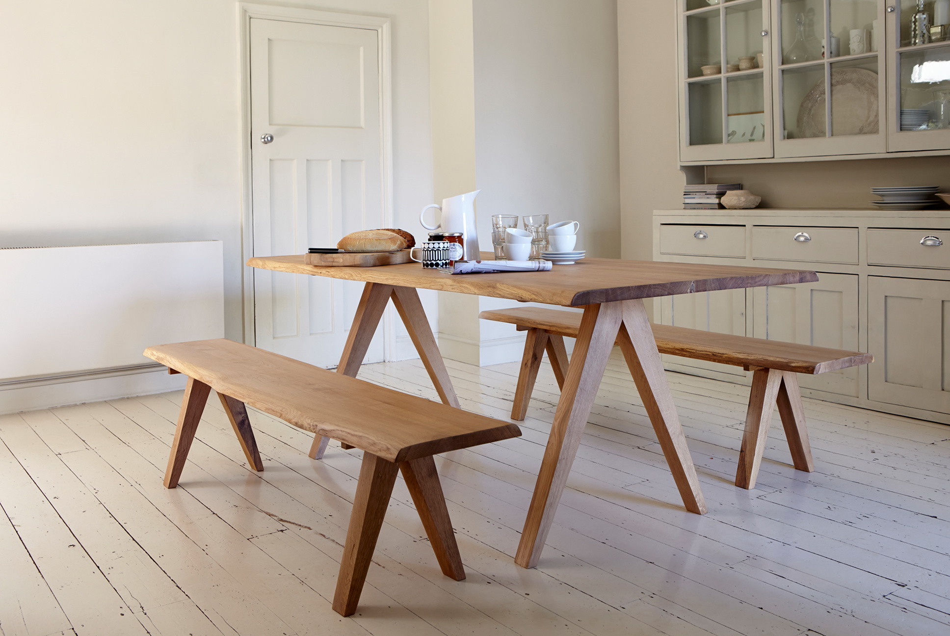 Wooden Bench Kitchen Table