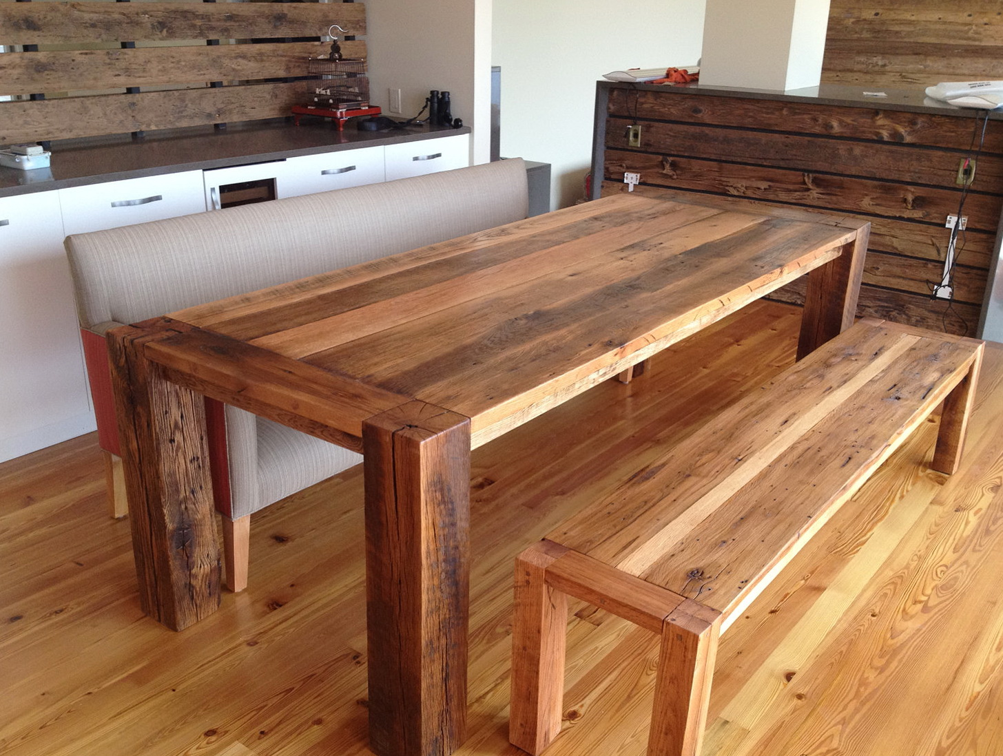 Wooden Dining Tables With Benches