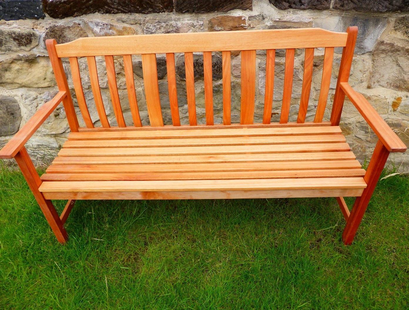 Wooden Garden Bench 3 Seater