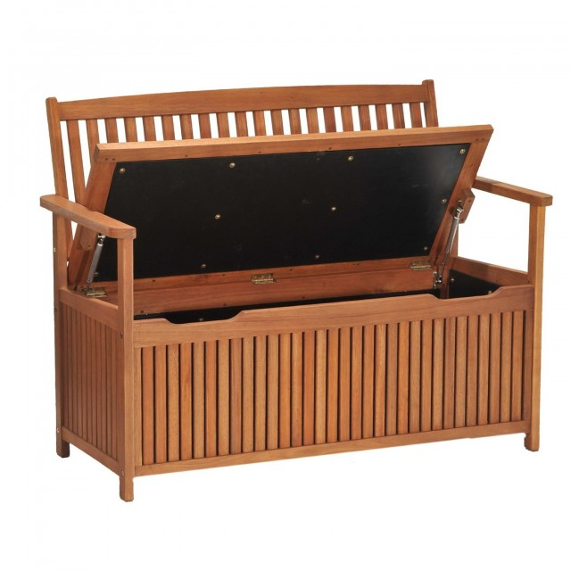 Wooden Garden Bench With Storage