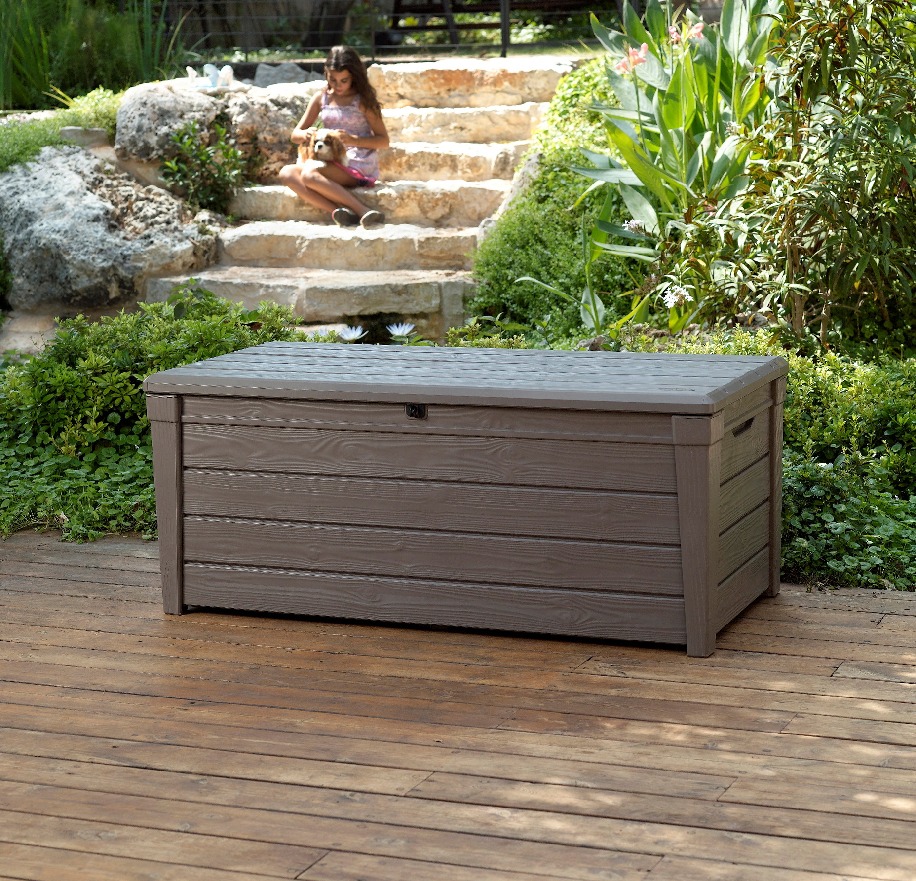 Wooden Garden Bench With Storage Box
