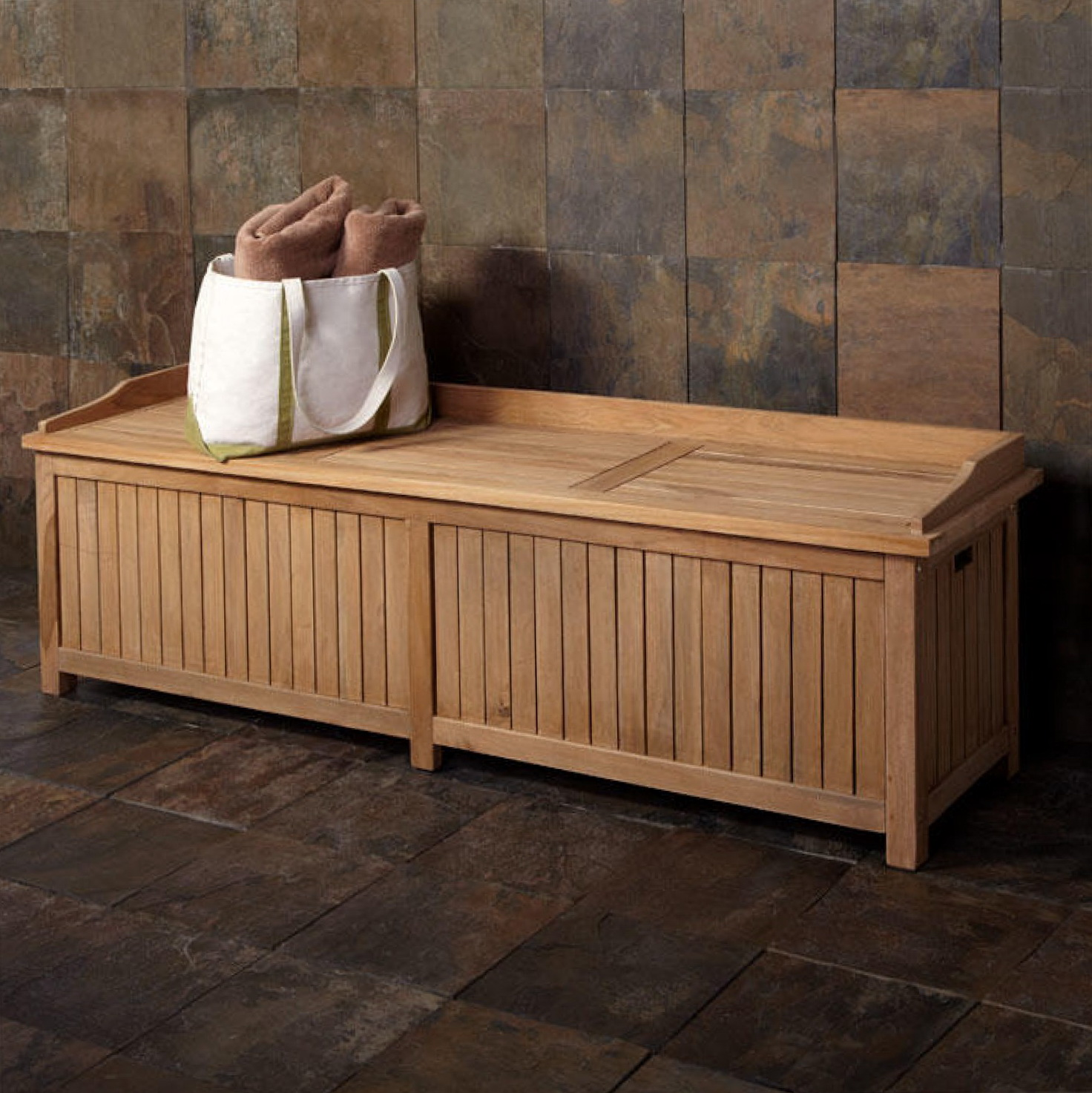 Wooden Storage Bench Outdoor