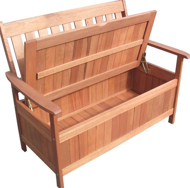 Wooden Storage Chest Bench
