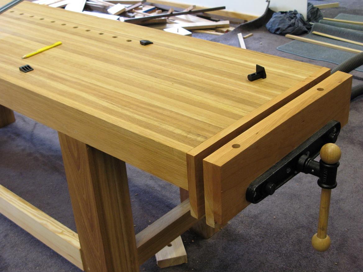 Woodworking Bench Vise Installation