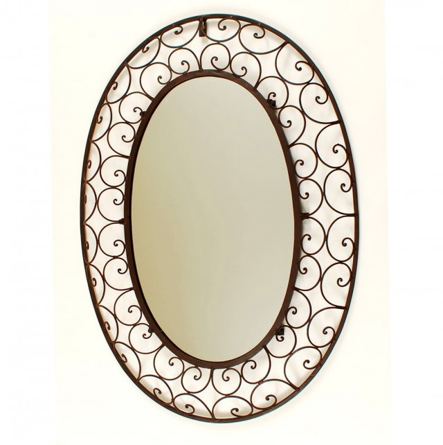 Wrought Iron Mirrors Bathroom