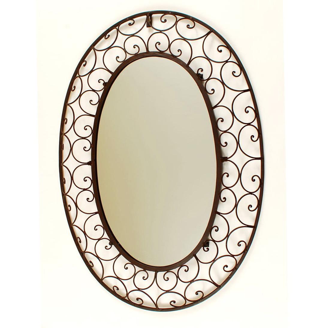 Wrought iron mirrors bathroom home design ideas for Wrought iron mirror