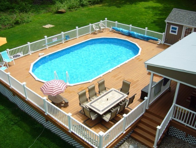 Above Ground Pool Decks Pinterest