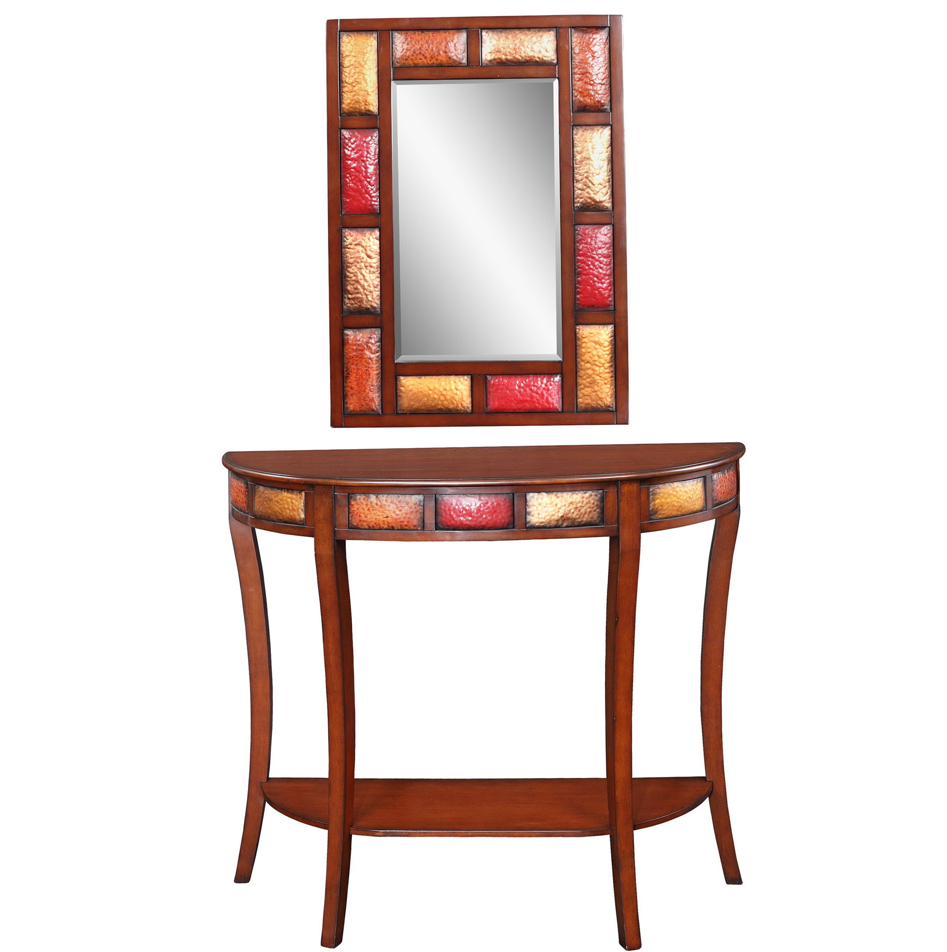 Accent Table And Mirror Set